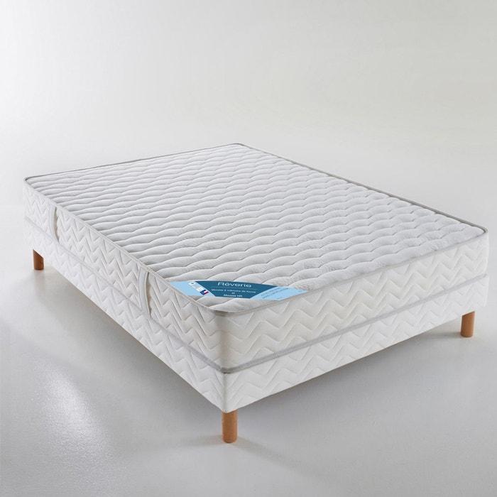 ensemble matelas mousse hr sommier blanc reverie la. Black Bedroom Furniture Sets. Home Design Ideas