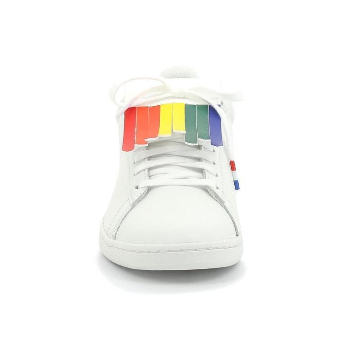 Chaussures Le Coq Sportif Courtset W Rainbow blanc multicolore femme
