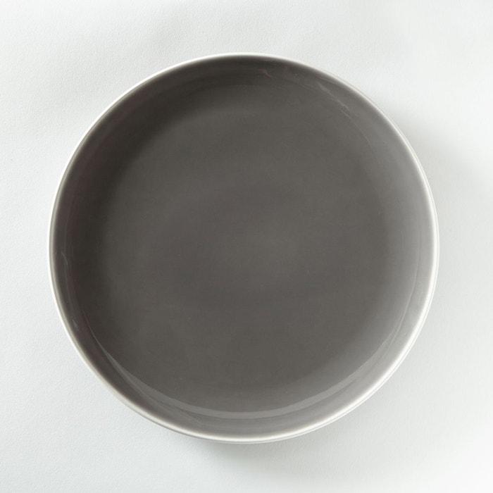 assiette plate design lot de 4 taupe la redoute interieurs la redoute. Black Bedroom Furniture Sets. Home Design Ideas