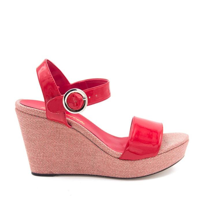 Sandales en cuir rouge Maria Barcelo Acheter Prix Pas Cher Bas Sortie Avec Paypal Ol04mb7J
