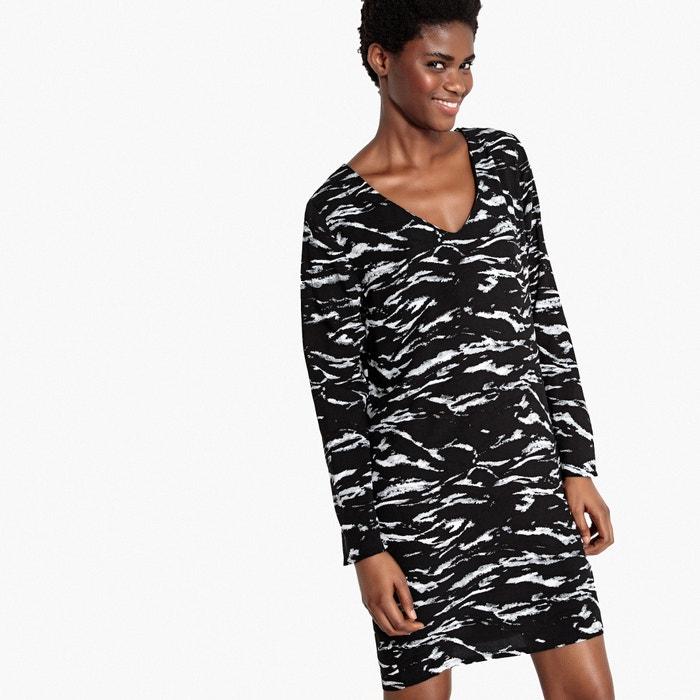 Vestido La escotado detr 225;s estampado Redoute Collections camuflaje vnnqwx4USA