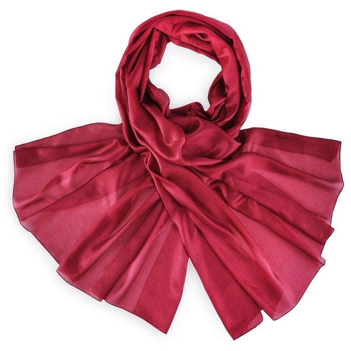 Etole soie bordeaux rouge Allee Du Foulard   La Redoute 4da6140a2fb