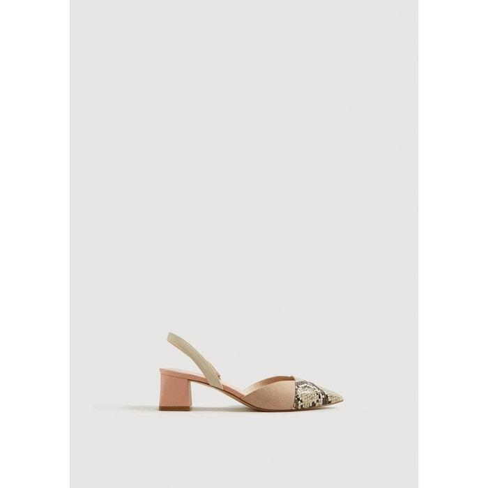 Chaussures combinées ouvertes à l'arrière  rose clair Mango  La Redoute