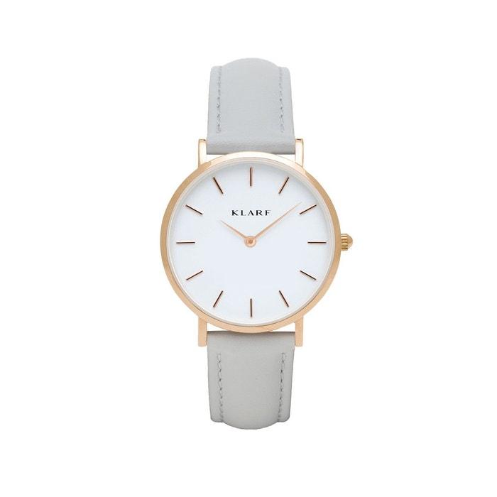 Petite gold grey montre gris Klarf | La Redoute Livraison Gratuite Avec Mastercard Site Officiel Vente Livraison Gratuite Finishline QLkRKiz