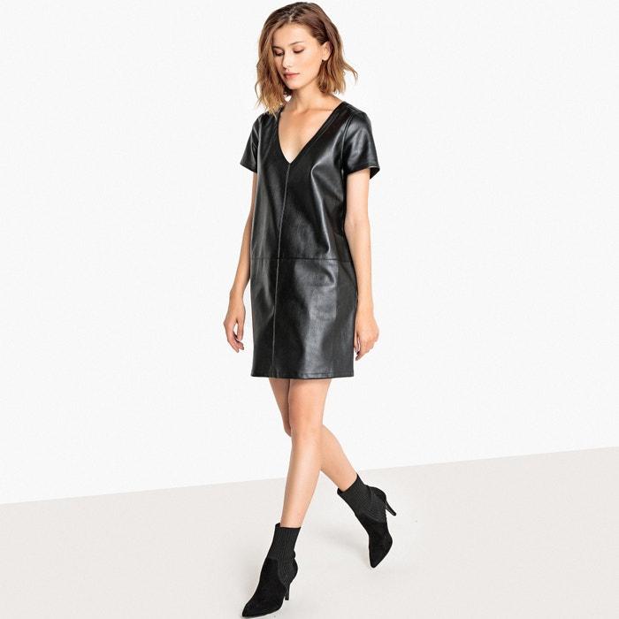 Vestido piel negro