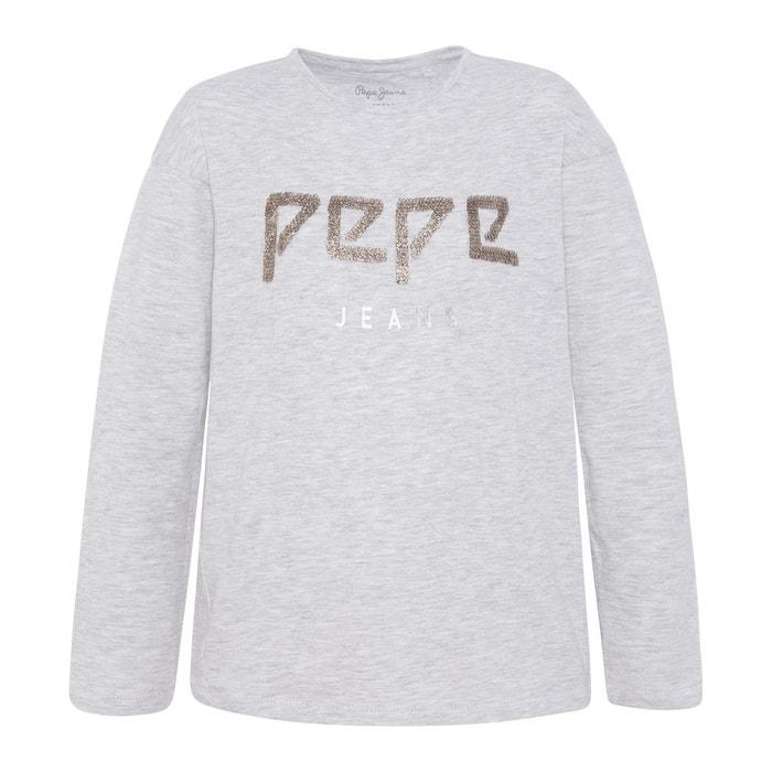 2f3e8e65571a3 T-shirt manches longues 8-16 ans gris Pepe Jeans | La Redoute