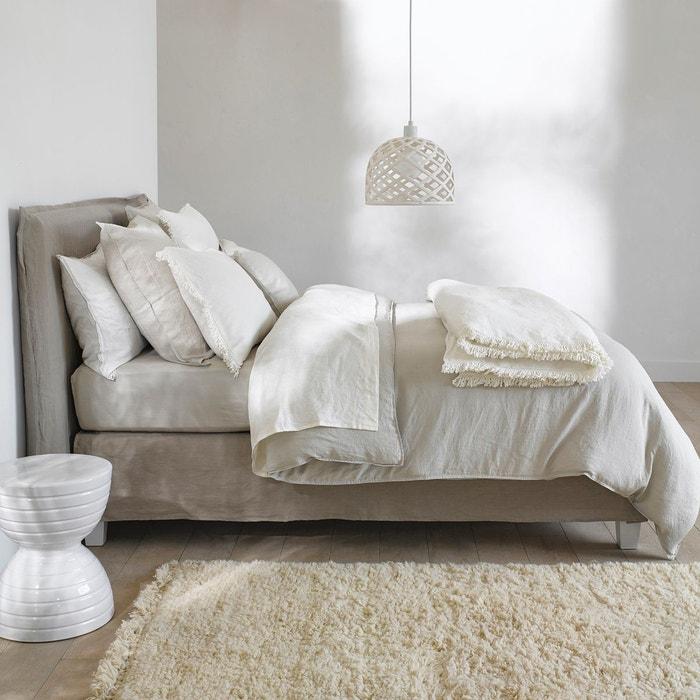 drap housse helm en chanvre lav am pm la redoute. Black Bedroom Furniture Sets. Home Design Ideas