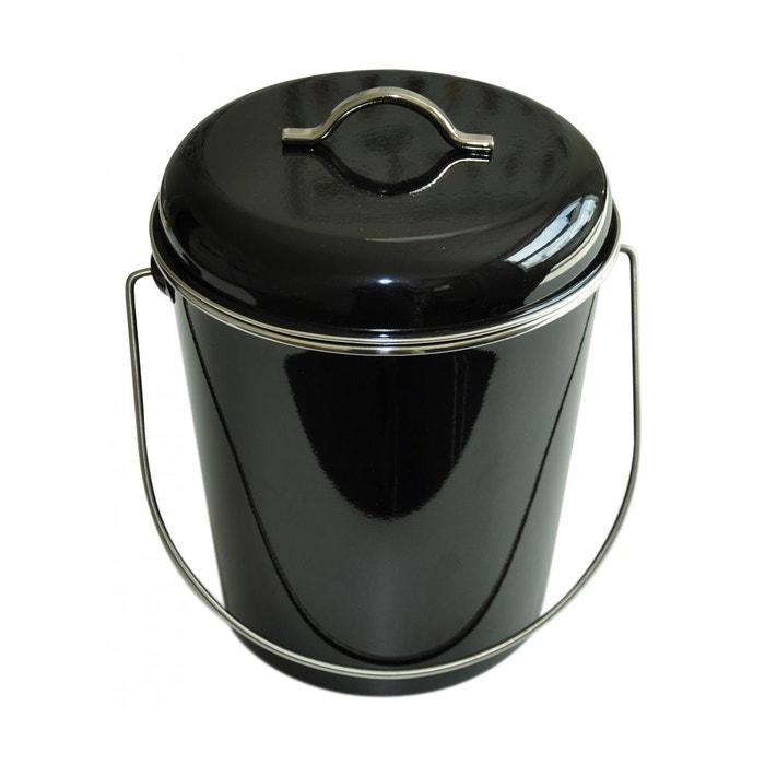 Poubelle salle de bains ou cuisine 6 l waterquest noire - Petite poubelle salle de bain ...