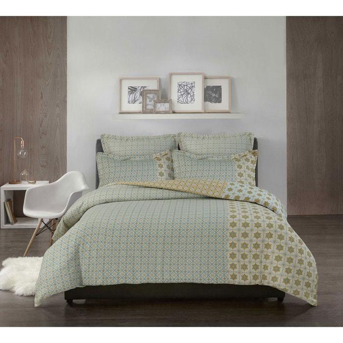 housse de couette imprim e fa on carrelage home maison la redoute. Black Bedroom Furniture Sets. Home Design Ideas