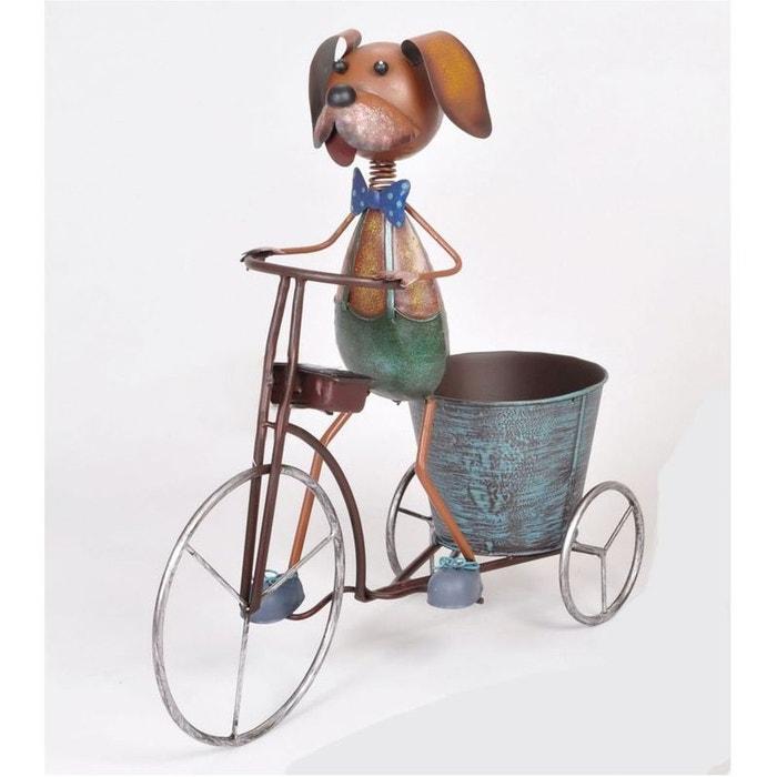 cache pot chien bicyclette en m tal 46x46x46cm m tal color pier import la redoute. Black Bedroom Furniture Sets. Home Design Ideas