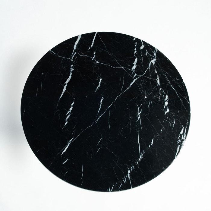 plateau table bistrot marbre 75 cm aradan marbre noir am. Black Bedroom Furniture Sets. Home Design Ideas