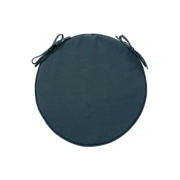 Galette de chaise ronde diam 42 cm bleu orage bleu hesperide la redoute - Galette de chaise ronde bleu ...