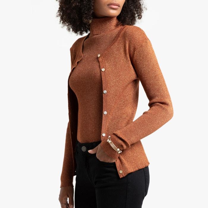 Gebreid vest met knoopsluiting in glanzend fijn tricot  LA REDOUTE COLLECTIONS image 0