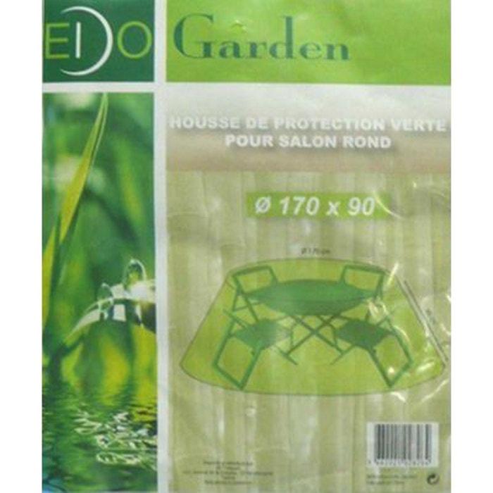 Housse de protection salon de jardin rond vert Imagin | La Redoute
