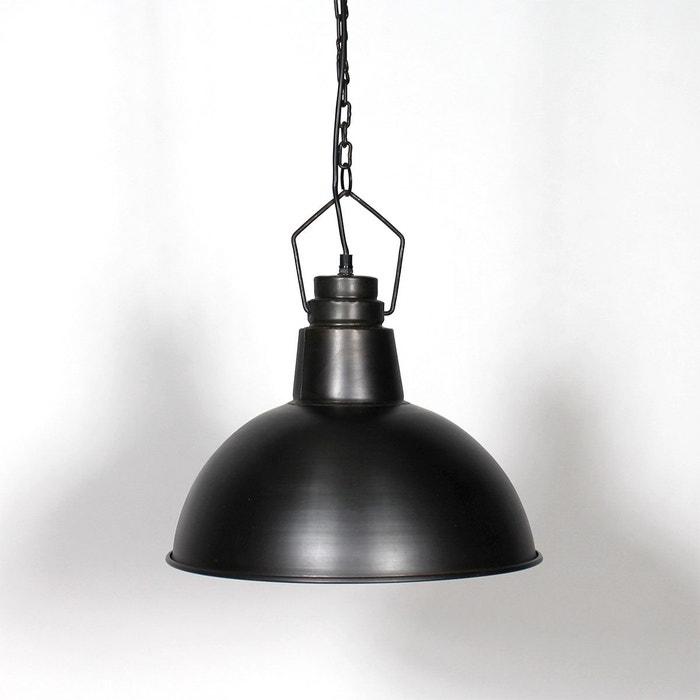 Suspension industrielle noire arrondie 41 cm | lam5fb noir Made In ...