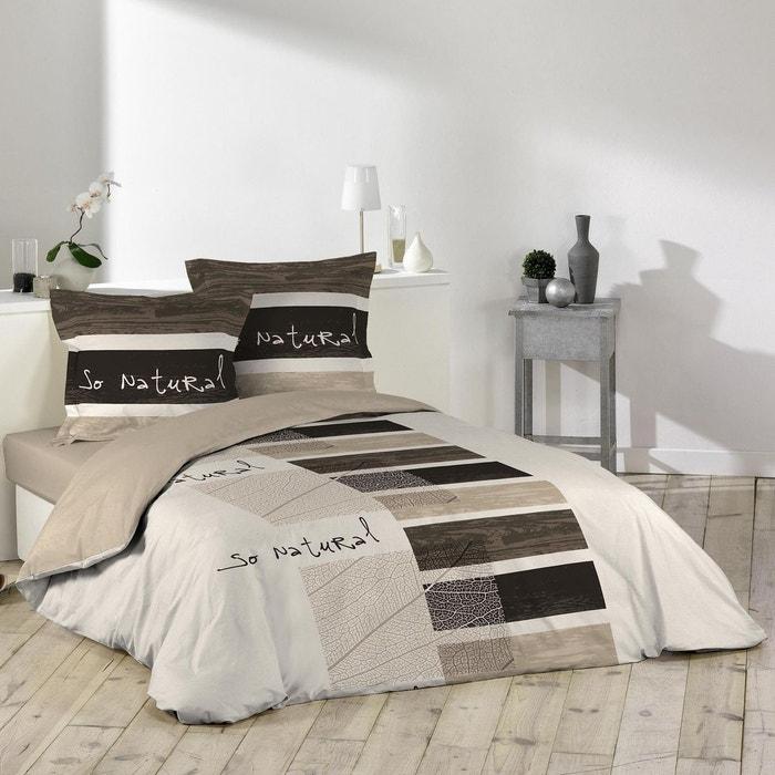 parure housse de couette collection so natural marron douceur d 39 int rieur la redoute. Black Bedroom Furniture Sets. Home Design Ideas