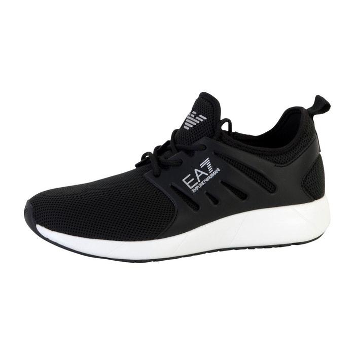 Ea7 Armani Logo Baskets Running - Noir 3YLxiexD