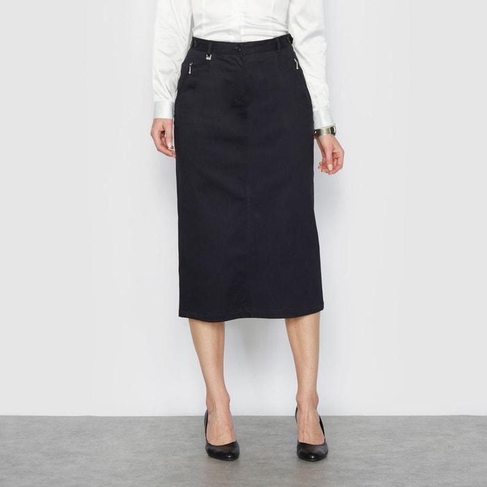 jupe longue en coton noir anne weyburn la redoute. Black Bedroom Furniture Sets. Home Design Ideas