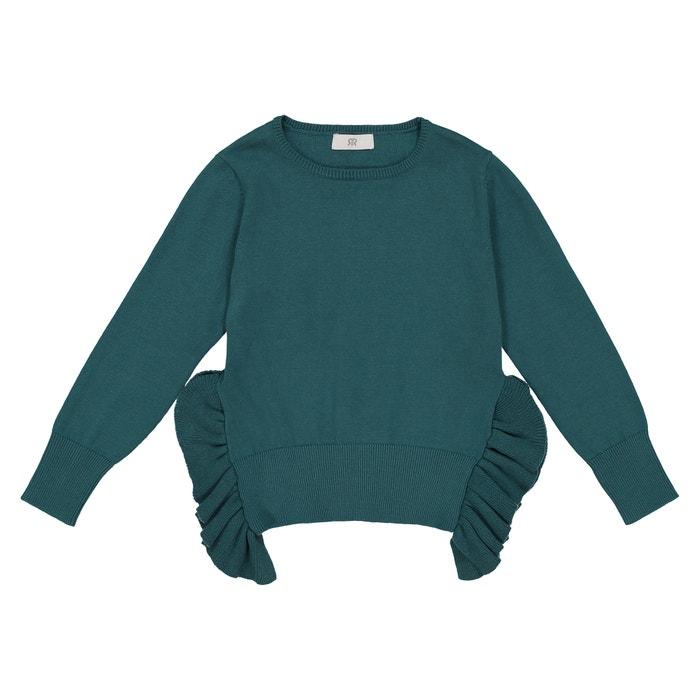 La Redoute Uniross Fine Gauge Knit Jumper//Sweater with Contrasting Ruffle 3-12 Years