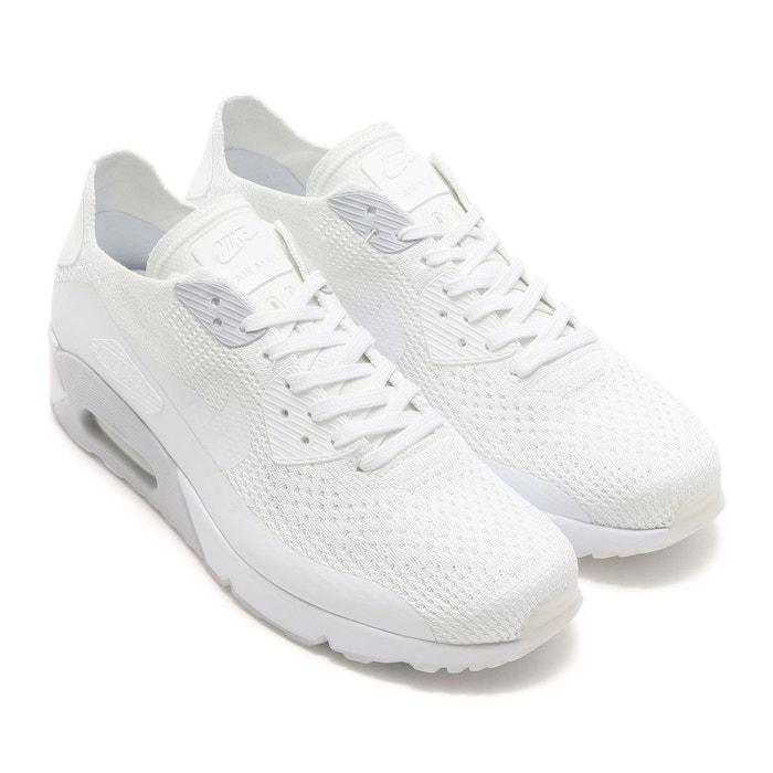 Basket air max 90 ultra flyknit - 875943-101 blanc Nike