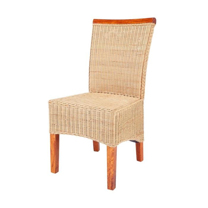 chaise cyril en osier fitrit miel paille rotin design la redoute. Black Bedroom Furniture Sets. Home Design Ideas