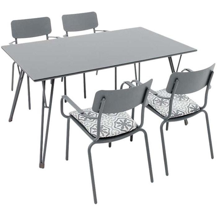 Salon de jardin en aluminium 4 personnes oslo gris Kettler | La Redoute