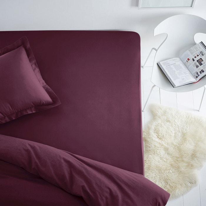drap housse coton pour matelas standard bordeaux scenario