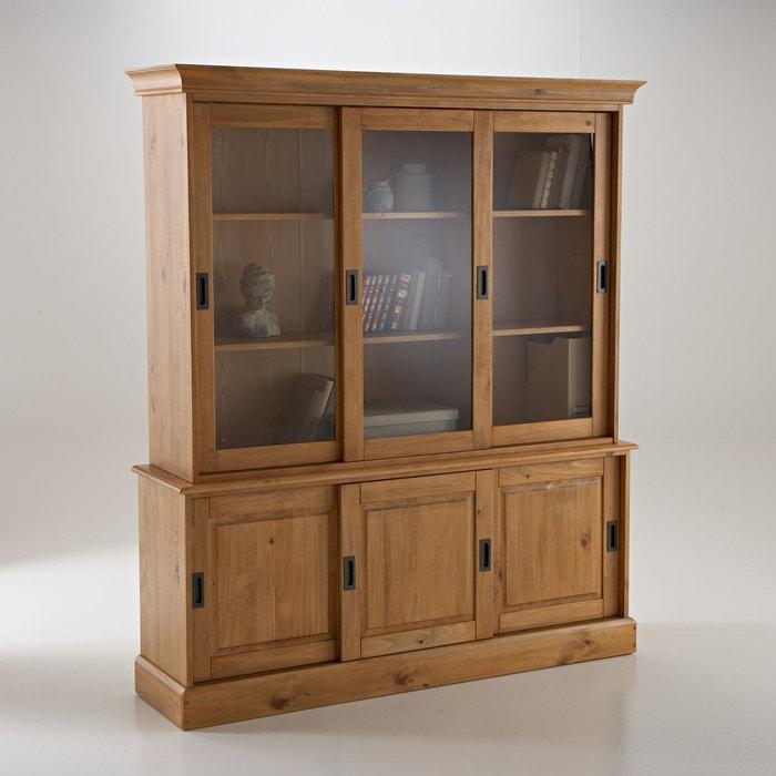 buffet vaisselier pin massif authentic style pin cir la. Black Bedroom Furniture Sets. Home Design Ideas