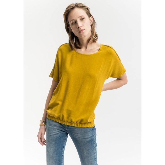 blouse lastiqu e jaune moutarde la fee maraboutee la redoute. Black Bedroom Furniture Sets. Home Design Ideas