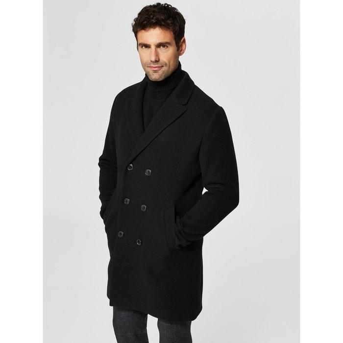 manteau laine - selected homme | la redoute