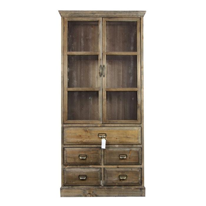 Buffet vaisselier rangement bois 5 tiroirs 81x35x169cm for Autrefois decoration