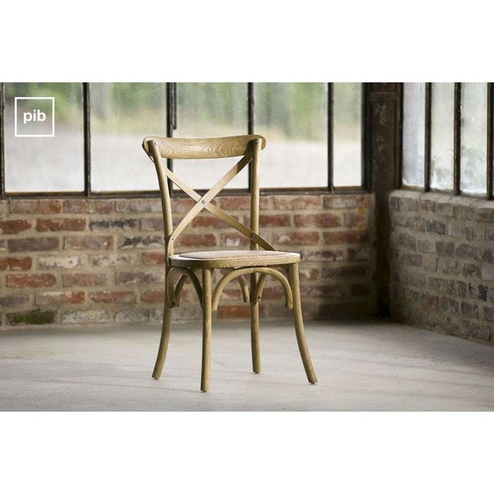 chaise pampelune finition naturelle bois clair produit. Black Bedroom Furniture Sets. Home Design Ideas