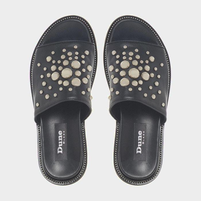 DUNE BLACK - Sandales plates cloutées à enfiler - LAVISHE   La Redoute