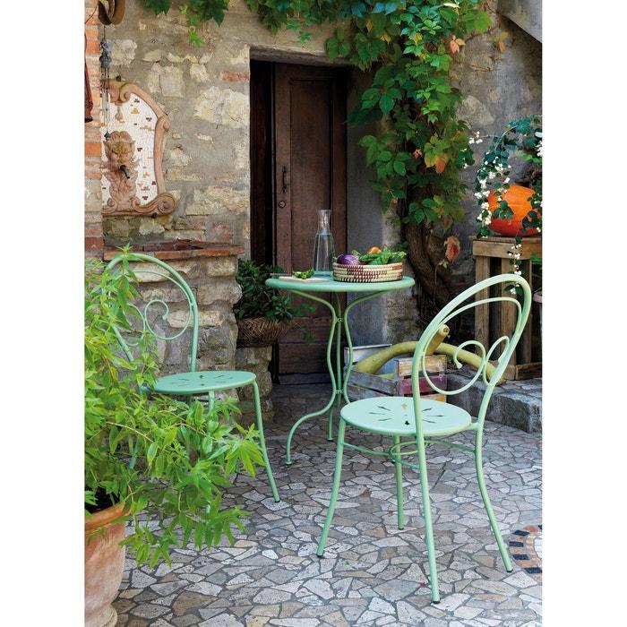 Chaise en fer forg mimmo la redoute interieurs la redoute for La redoute meuble jardin