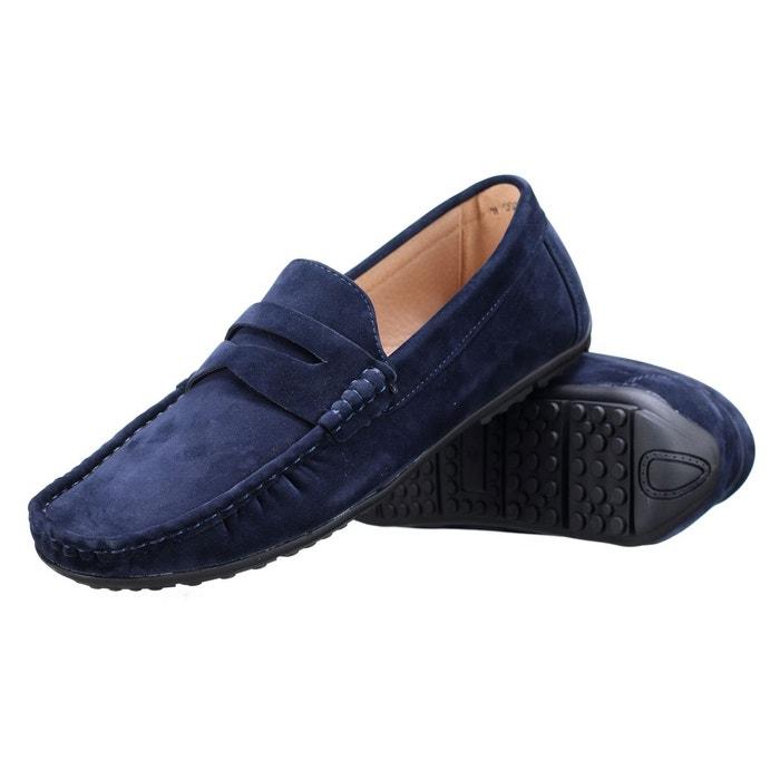 Chaussure derbie à enfiler bleu Goor
