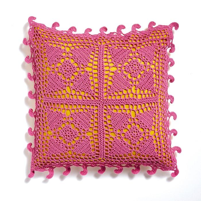 Housse de coussin crochet Button  La Redoute Interieurs image 0