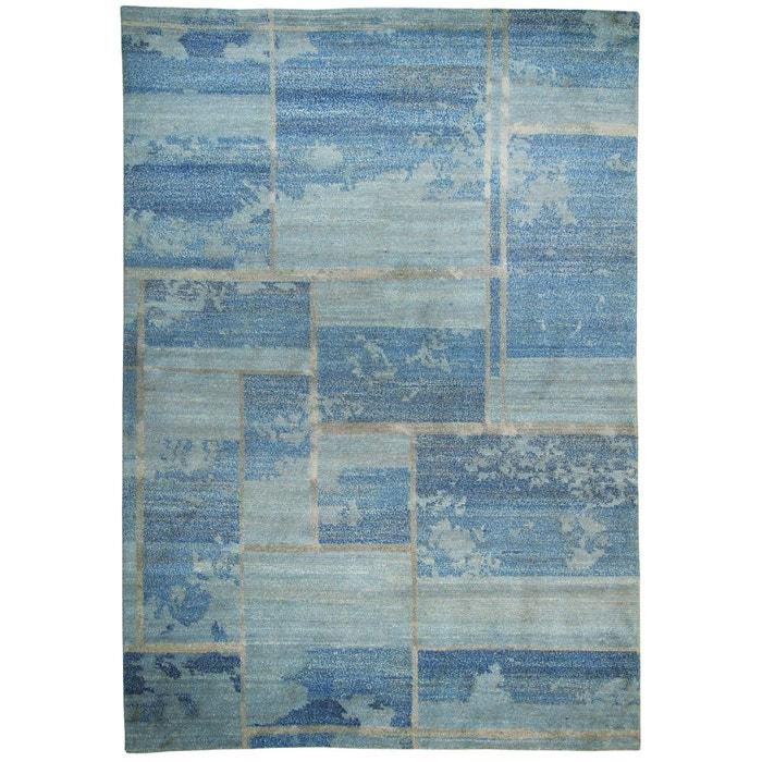 Tapis salon basti laine org nepal laine tapis chambre bleu theko la re - Tapis laine la redoute ...