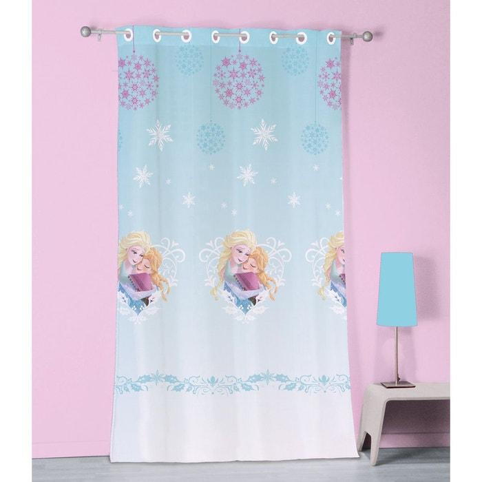 voilage oeillets 140x240 cm disney princess frozen reine des neiges 100 polyester imprim la. Black Bedroom Furniture Sets. Home Design Ideas