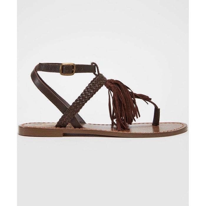 Sandales spartiates en cuir nubuck  marron Joe Browns  La Redoute