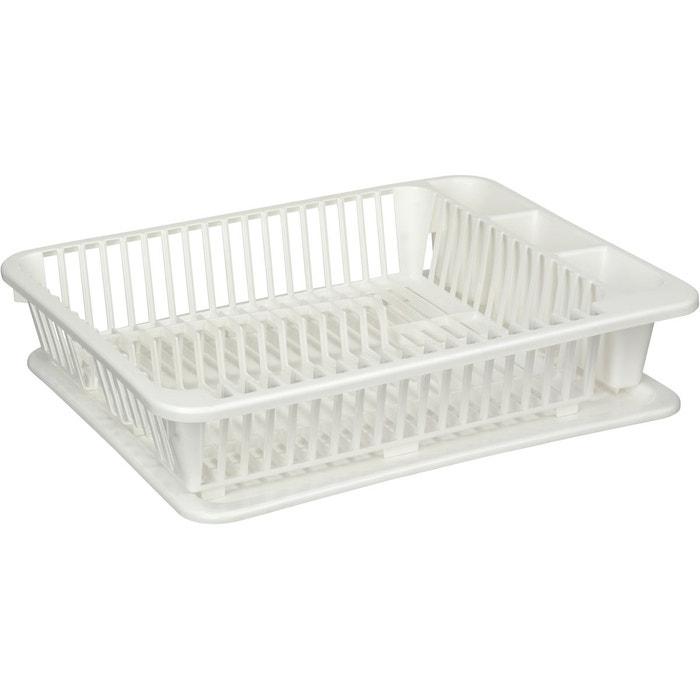egouttoir vaisselle avec plateau kitchen ware blanc jardindeco la redoute. Black Bedroom Furniture Sets. Home Design Ideas