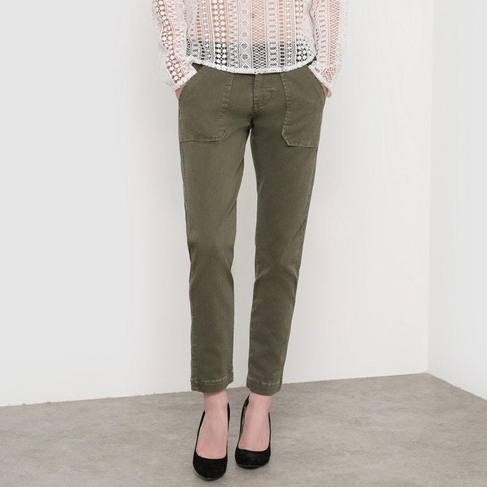 Image Slim Fit Cropped Trousers LE TEMPS DES CERISES
