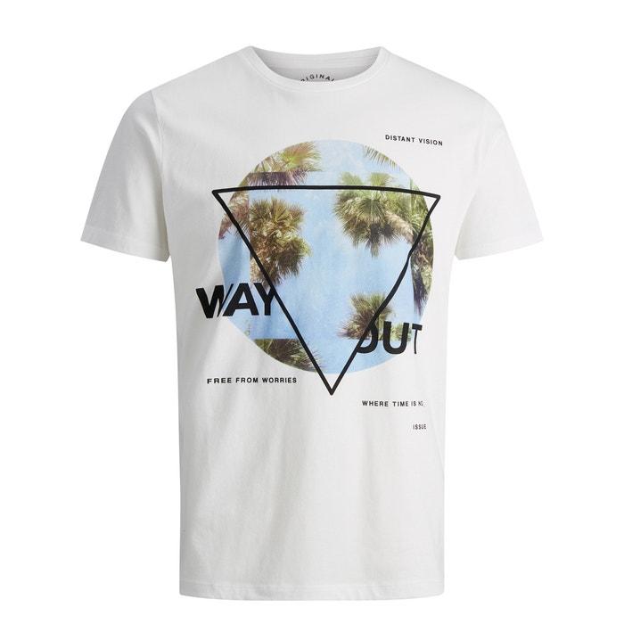 delante con redondo amp; Camiseta JACK cuello JONES motivo aqTw0