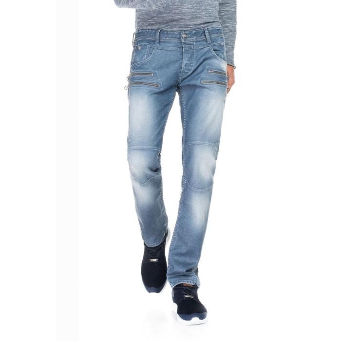 jeans 1st level avec fermetures clair doubles sur le devant bleu salsa la redoute. Black Bedroom Furniture Sets. Home Design Ideas
