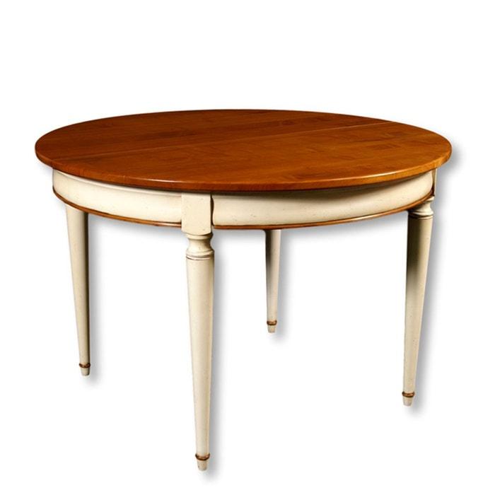 table ronde 4 pieds avec 1 allonge