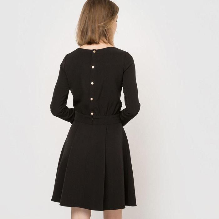 robe de soir e boutonn e dos noir la redoute collections la redoute. Black Bedroom Furniture Sets. Home Design Ideas
