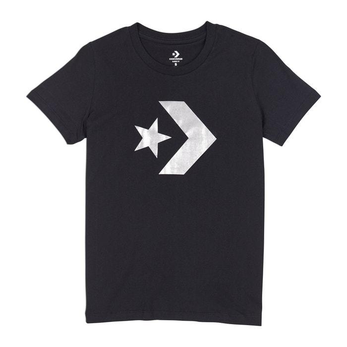y redondo Camiseta delante cuello corta estampado de con CONVERSE manga gIAwvHq