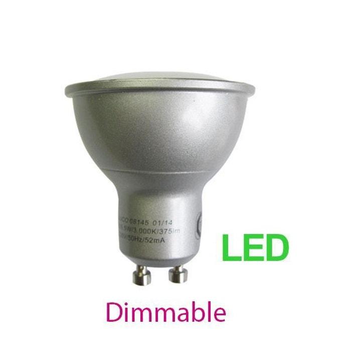 ampoule led gu10 5 w dimmable puissance constat e 35 w blanc medium gris millumine la redoute. Black Bedroom Furniture Sets. Home Design Ideas