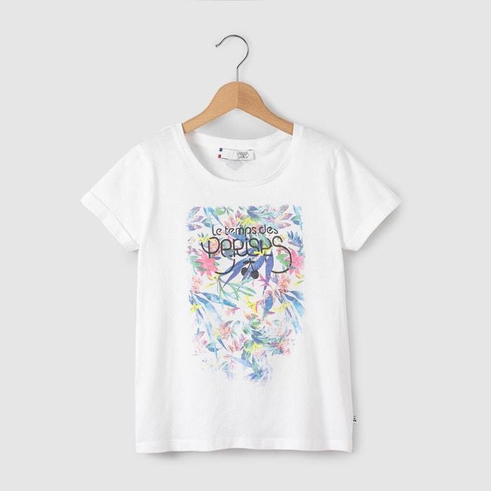 Image Floral Print Cotton Jersey T-Shirt, 8-16 Yrs LE TEMPS DES CERISES