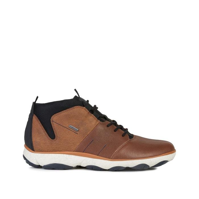 Geox Nebula homme en cuir tan Basse Baskets Taille UK 6-12