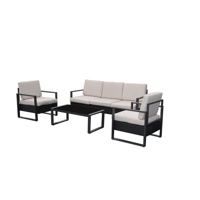 Salon De Jardin Santorin Alu Et R Sine Tress E Blanc Noir